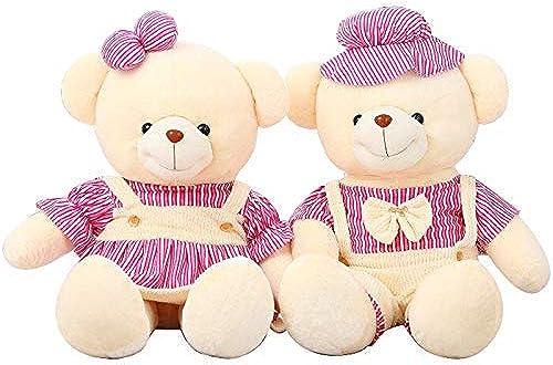 MISJIA Plush Toy Paar Teddyb n, 2 niedliche Umarmung B n Puppen, Kissen, Kindergeburtstag, Hochzeitsgeschenke,Rosa,130cm