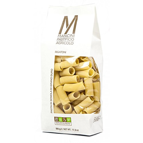 Mancini - Pasta Artigianale Rigatoni 500g (confezione Da 12 Pezzi)