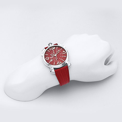 [ガガミラノ] 腕時計 THINCHRONO46MM レッド文字盤 クロノグラフ 5097.04RD 並行輸入品 レッド [並行輸入品]
