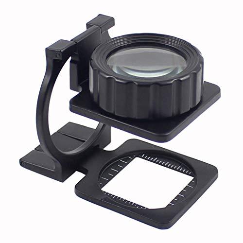 YEESEU 10x Cristal inspección Profesional Lupa adecuados for el Laboratorio de Electrónica Industrial Gabinete de Identificación de Jade Antiguo StampsSend Ancianos Liderazgo Herramienta de Lectura
