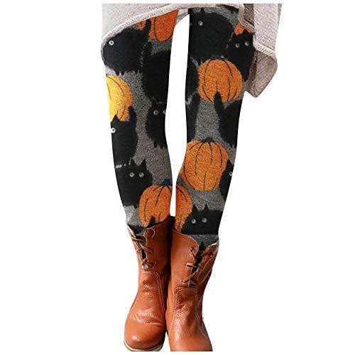 YAAY Leggings ligeros de cintura alta para mujer, diseño de gato, para adelgazar, de longitud completa, para amantes de los gatos.