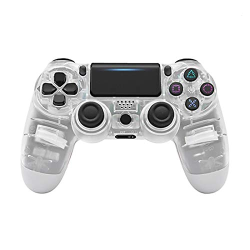 Aplicar al controlador inalámbrico Playstation 4blanco transparente, controlador inalámbrico Joystick Gamepad