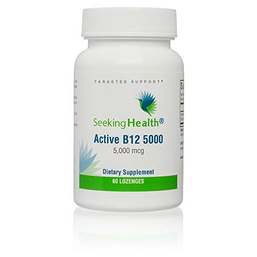 Seeking Health   Active B12 Vitamin Supplement   5,000 mcg Lozenge   B Engergy Supplement