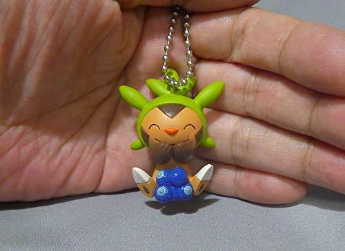 Pokemon Manpuku Pakupaku Part 2 Figure Swing Keychain~Harimaron Chespin