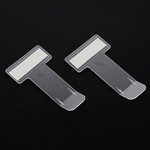 FGF-EU - 2 pinzas transparentes para parabrisas de coche, con almohadillas adhesivas