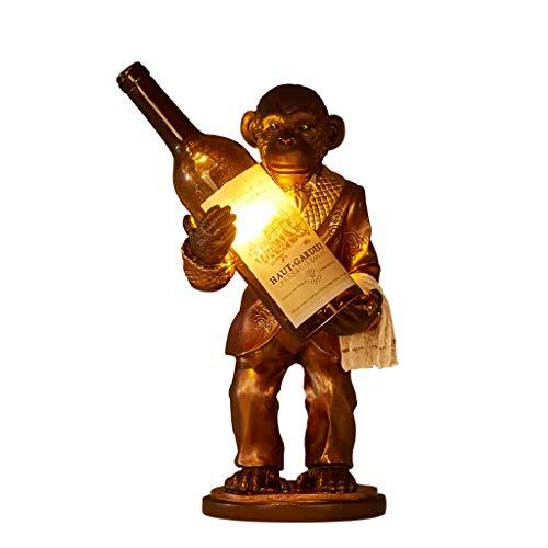 AFFE hält Flasche Lampe, exotische Dekor Monkey Business Persönlichkeit dekorative Beleuchtung 16-Zoll-Studie Bar Bar Wein