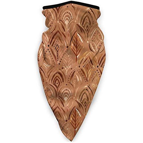 Boho-Medaillon Scallop Kupfer Gold Rost Sport Bandana Hals winddicht Magischer Schal Sonnenschutz Gesichtsmaske Sturmhaube Kopftuch für Damen und Herren