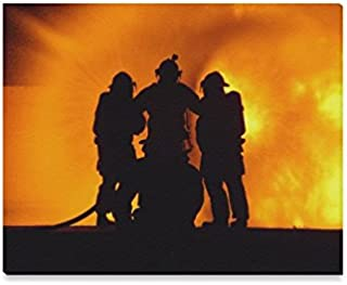 Firefighter Emblem,Fire Rescue,Fire Department DEPT. Oil Painting Home Decorative Canvas Prints- 20x16 Inch(One Side)