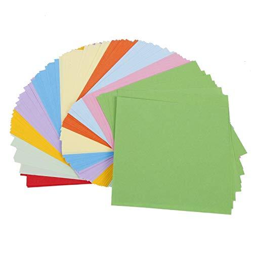 Papel Plegable de Color de Doble Cara de Origami Cuadrado para niños, Papel para Manualidades, Materiales de Arte Decorativo, 10 x 10 m