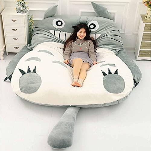 FBRNYQPM Totoro Tatami Colchoneta para Cama Doble Individual diseño de Totoro Lazy para niños, Ideal para Dormitorio o Dormitorio, Cómodo Plegable, para niños Adulto,001,120 * 80