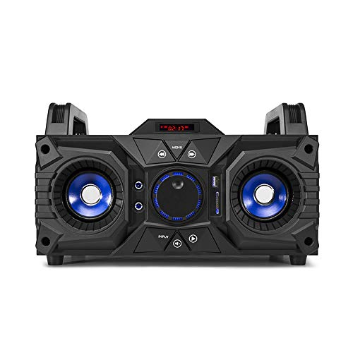 Fenton MDJ95 Portable Bluetooth Party Speaker Boombox with Built-in Battery...