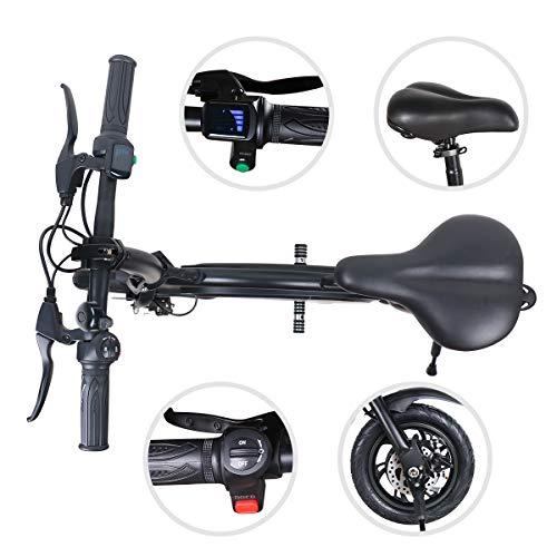 Vélo Électrique de Ville Pliant, Jusqu'à 25 km/h, Vitesse Réglable Noir Bike, 12 Pouces Roues, Batterie au Lithium LG 36V/4.4Ah, Adulte Unisexe, Garantie à Vie