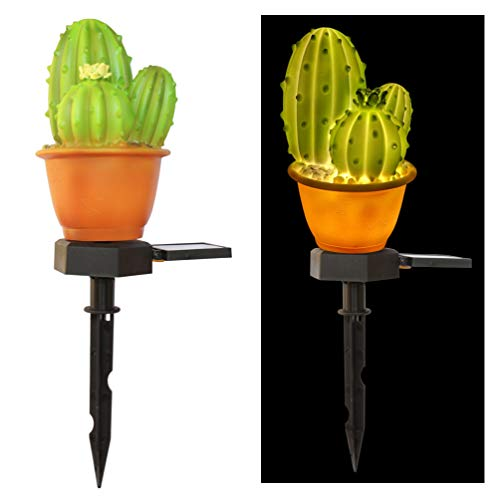 Mobestech Zonne-Tuinverlichting Creatieve Cactus Ananas Gazon Lamp Buiten Grondverlichting Voor Tuin Tuinpad Patio Decor