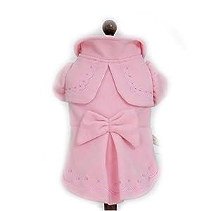 Hiver chaud Chien de luxe Laine Trench Coat Veste Costume Petit Chien Chat Princesse Nœud papillon Robe Jupe Vêtements Chihuahua Vêtements