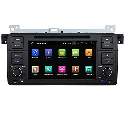 ROADYAKO Android 8.1 pour BMW E46/M3 1998 1999 2000 2001 2002 2003 2003 2002 2005 2005 Autoradio Stéréo GPS Navigation 3G WiFi Lien Miroir RDS FM AM Bluetooth