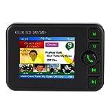 DAB/DAB+ Autoradio Adapter, 2,4' LCD Display mit Bluetooth Freisprecheinrichtung + DAB Transmitter + FM Transmitter + Aux in/Out + TF Karte Musik Spielen + KFZ Ladegerät