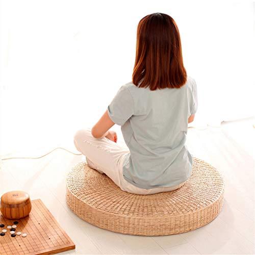 XJ&DD Pufs de ratán,Cojines futón,Mat de té para Aire Libre Meditación Cojín de Yoga Esteras.Espesor 30cm (12 Pulgadas)-D 40x40cm(16x16inch)