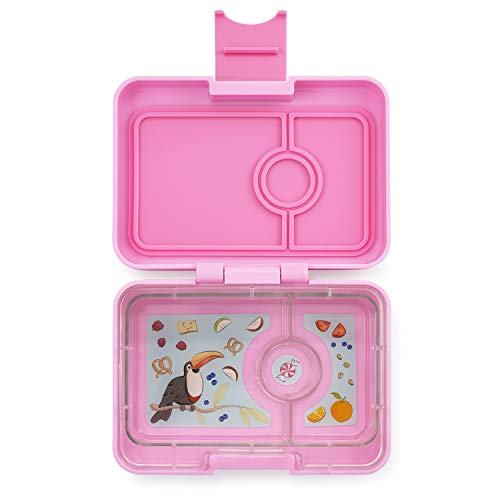 Yumbox Mini XS Snackbox - 3 Fächer | Kleine Kinder Bento Box | Brotdose Vesperbox für Krippe, Kindergarten (Stardust Pink)