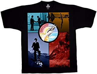 Liquid Blue Men's Pink Floyd Welcome to The Machine Short Sleeve T-Shirt,Black,X-Large