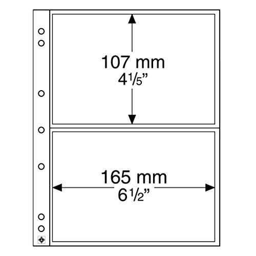 Leuchtturm 338575 10x Münzhüllen NUMIS 2C zur Aufbewahrung für Formate bis 165 x 107 mm   Ideal für Banknoten und Postkarten
