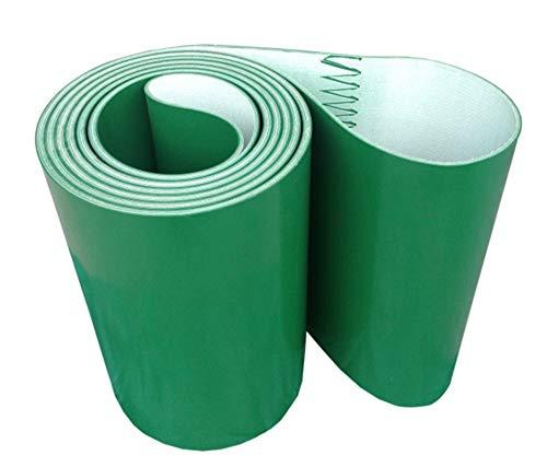 NO LOGO LSB-cabinetry, 1pc 1500x200x3mm PVC Verde Transmisión Cinta transportadora Cinturón Industrial