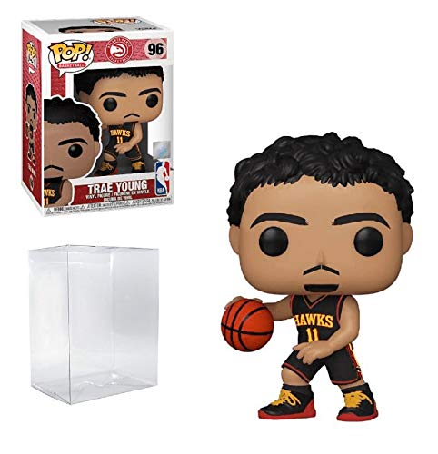 Trae Young Atlanta Alternate Jersey #96 Pop Sports NBA Action Figure (Bundled with EcoTek Protector to Protect Display Box)