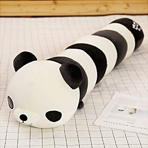 Xiaoahua Colorido Caterpillar Juguete de Felpa Animal Transformar muñeca de Dibujos Animados Panda Relleno Cangrejo sofá Almohada cojín bebé apaciguar 120cm Panda
