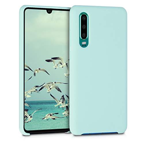 kwmobile Funda Compatible con Huawei P30 - Funda Carcasa de TPU para móvil - Cover Trasero en Menta Mate