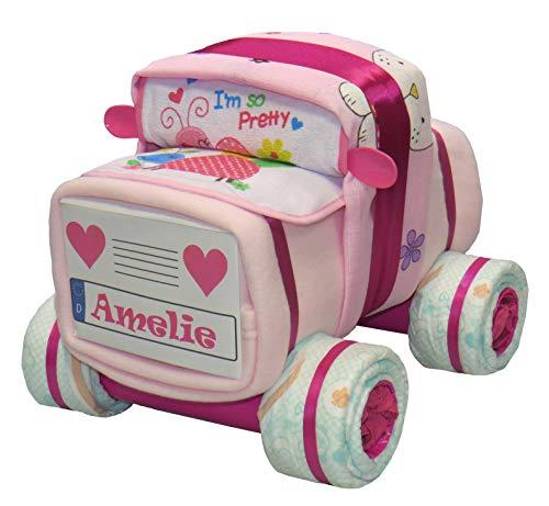 Windeltorte - Windelauto - Auto - rosa - Mädchen - Windel-Auto