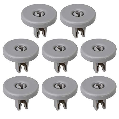 BQLZR 8 ruedas de plástico universales para lavavajillas de 4 cm de diámetro, color gris
