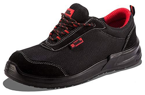 Zapatillas Deportivas de Seguridad para Hombres Puntera S1P SRC Calzado de Trabajo Botines para senderistas Protección Entresuela 4482 Black Hammer (44 EU)