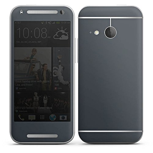 DeinDesign HTC One Mini 2 Case Skin Sticker aus Vinyl-Folie Aufkleber Anthrazit Grau Grey