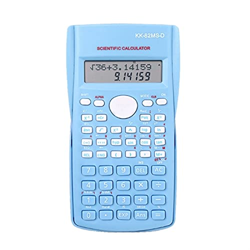 WBHUBIN Calcolatrice Ingegneria Calcolatrice scientifica per la Scuola e Le Forniture di Studio d Affari Calcolatrice Strumento scientifico 12 cifre (Color : Blue)
