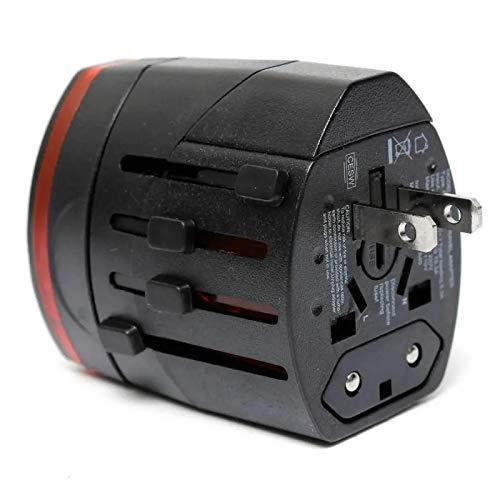 AC adaptador convertidor de enchufe de energía del AU/UK/US duales/UE puertos USB recorrido de la pared del adaptador universal del cargador Interruptor de luz