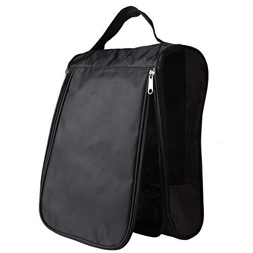 Tragbarer Reise-Schuh-Beutel Mit Reißverschluss Außen Golf Schuhe Taschen Sportschuh Tasche Für Männer Frauen Schwarz 1pc
