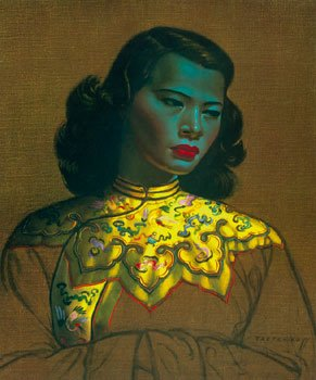 Price comparison product image Vladimir Tretchikoff - Chinese Girl Print 1 / 5 Artist's Proof Gouttelette on Canvas