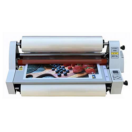 Laminadora de rollo en frío caliente, máquina laminadora de película V480 de 480 mm, máquina laminadora térmica de una o dos caras con pantalla digital, para uso comercial en oficinas escolares