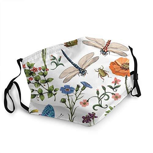 ZVEZVI Pflanze boca cuello polaina bufanda personalizada lavable media cara máscara con orejera ajustable divertido pasamontañas pañal