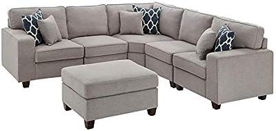 Amazon.com: Coaster 500727 Tess Seccional sofá gris ...