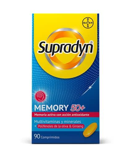 Supradyn Memoria 50+ Vitaminas, Minerales, Polifenos de la Oliva y Ginseng, 90 Comprimidos