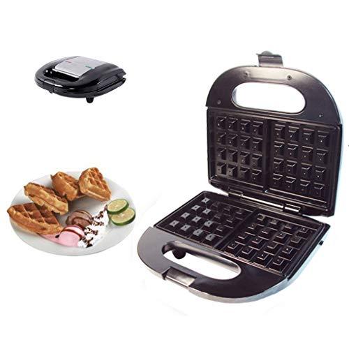 Küche Multifunktion Waffeleisen, Luxus Haushalt Rostfreier Stahl 3 in 1 Donut-Maschine Frühstück Maschine Sandwichmaker, Antihaft-Beschichtung, Design