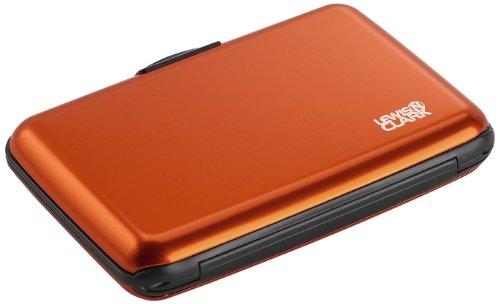 Lewis N. Clark Rfid Aluminum Wallet, Orange, One Size