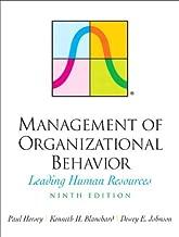 Management of Organizational Behavior (9th Edition) by Hersey Paul Blanchard Kenneth H. Johnson Dewey E. (2007-09-15) Hardcover