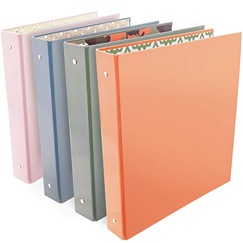 Emraw Trendsetters 3-Ring Binder 1.5-Inch – Used for Papers, Loose-Leafs, Business Cards, Compact Discs, Etc. (4-Pack)