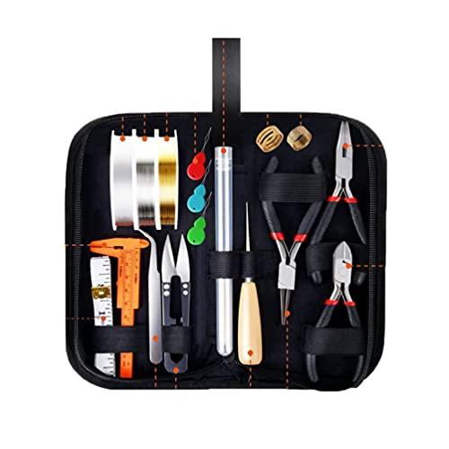 Byqny Herramientas De Fabricación De Joyas, Kit de herramientas de fabricación de joyas, Herramientas de bricolaje para hacer y reparar joyas para principiantes, Puede hacer pulseras y collares