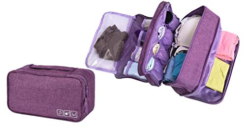 Unterwäsche Aufbewahrungstasche – Wasserdichtes Nylon Reisetasche Sockentasche Kulturbeutel Farbwah-lila(Purple)