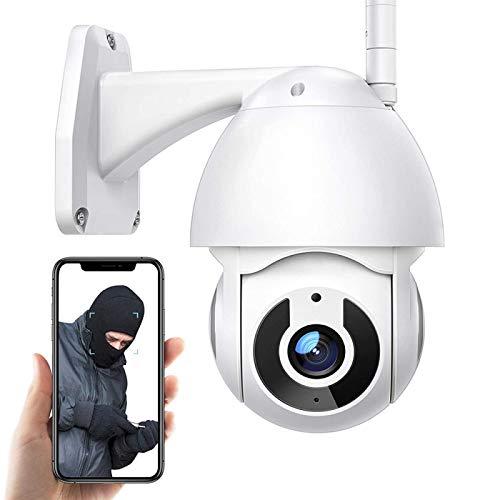 AINSS Videocamera Sorveglianza Esterno WiFi,1080P HD,Night Vision WiFi IP Telecamera,360°Angolo Ampio,Impermeabile IP66,Rilevamento del Movimento, Compatibile con iOS/Android 【WiFi-Telecamera+64G】