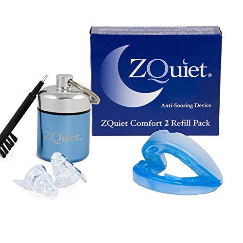 ZQUIET Anti-Snoring Mouthpiece Solution, Comfort Size #2 + Noise Reduction Earplugs