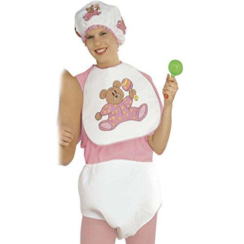 NET TOYS Mädchen Baby Kostüm für Erwachsene in rosa Babykostüm Karneval Kleinkind Outfit Verkleidung Fasching