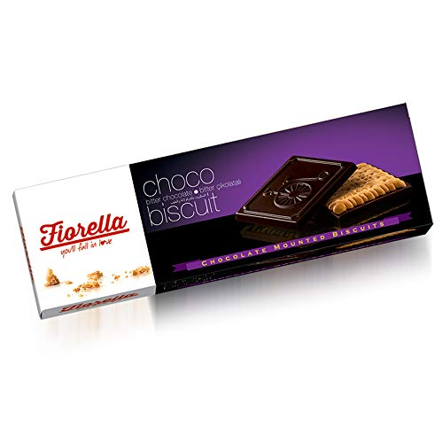 Fiorella Chocolate Biscuit Cookies - Delicious Cookies Topped with Dark Chocolate, Pack of 6